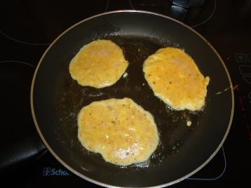 Pancakes in de pan.