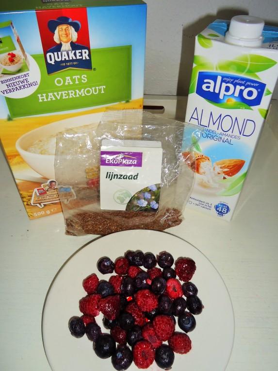 Mijn ingrediënten (op de amandelen na)