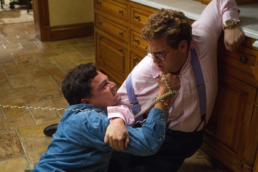 The Wolf of Wall Street (2013). Regie: Martin Scorsese. Cast: Leonardo DiCaprio, Jonah Hill, Margot Robbie, Matthew McConaughey e.a. Speelduur: 180 min. Image: IMDB.