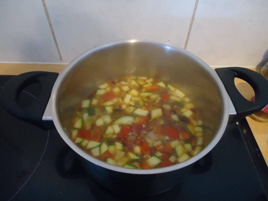 De soep voor de staafmixer eraan te pas is gekomen