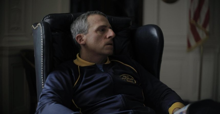 Still van Steve Carell in Foxcatcher