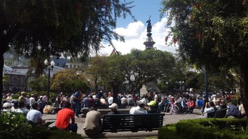 Plaza Grande in Quito, Ecuador