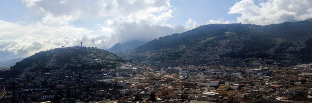 Uitzicht op Quito, de hoofdstad van Ecuador